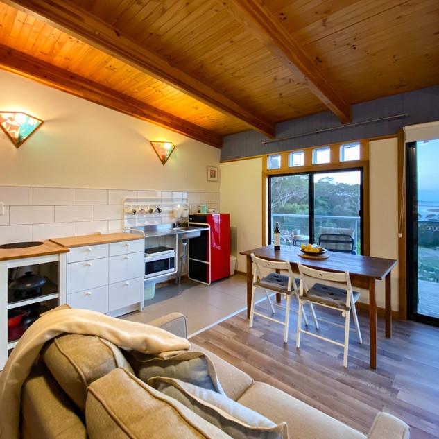 Swan's Studio Kichenette and Couch