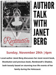 Author Talk With Janet Berg