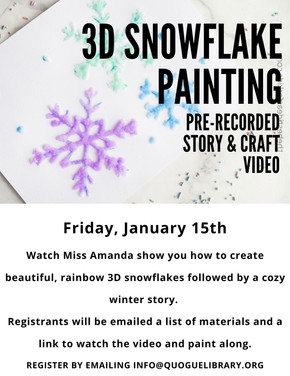 3D Snowflake Painting