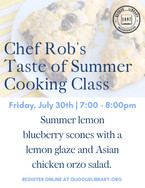 Chef Rob Taste of summer cooking class