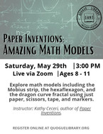 Paper Inventions: Amazing Math Models