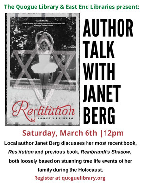 Author Talk: Janet Berg