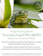 Frogs of Long Island