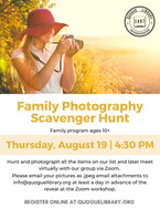 Family Photography Scavenger Hunt