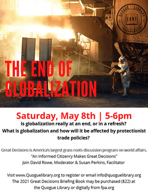 Great Decisions from The Foreign Policy Association: The End of Globalization