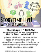 Storytime Live! with Miss Amanda