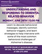 Understanding and Responding to Dementia-Relaated Behavior