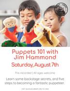 Puppets 101 with Jim Hammond
