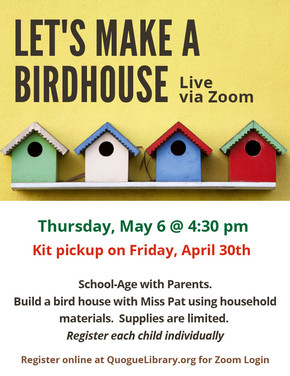 Let's Make a Birdhouse