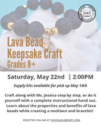 Lava Bead Keepsake Craft