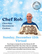 Chef Rob Chocolate Snowstorm Cookies