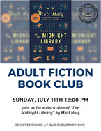 """Adult Fiction Book Club: """"Midnight Library"""""""