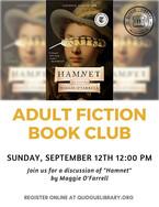 "Adult Fiction Book Club: ""Hamnet"""