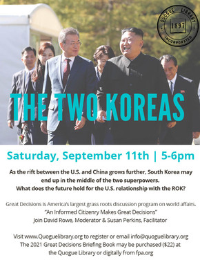 Great Decisions from The Foreign Policy Association: The Two Koreas