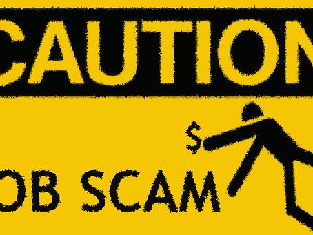 Beware of the Online Job Scams