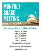 Monthly Board Meetings