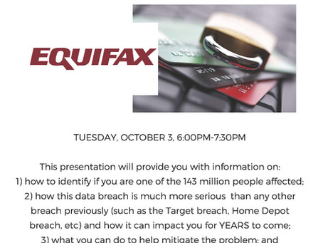 The Equifax Data Breach affects 143 MILLION