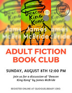 """Adult Fiction Book Club: """"Deacon King King"""""""