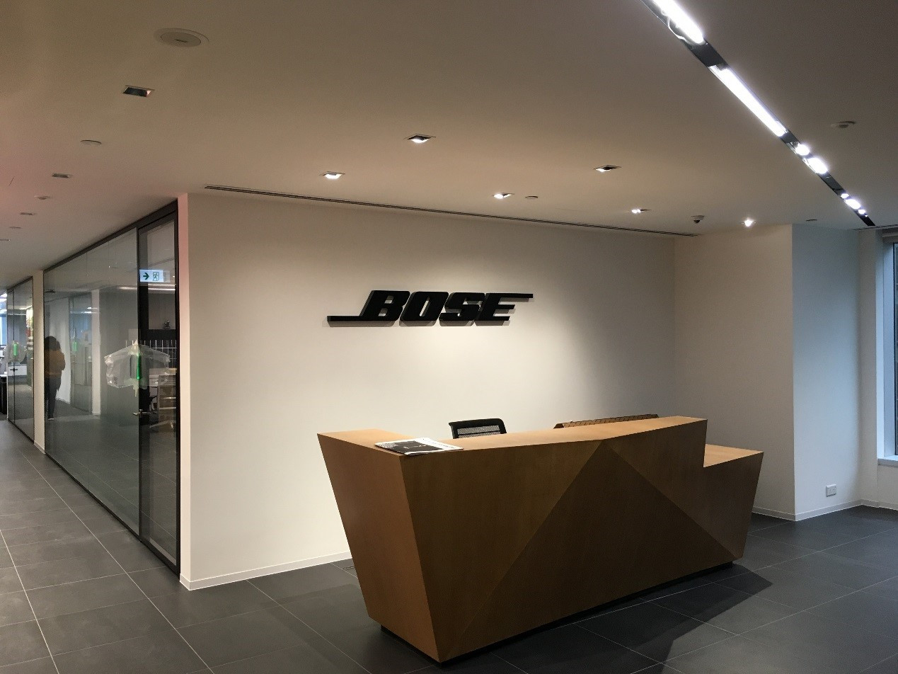 BOSE, Hong Kong office fitting-out project