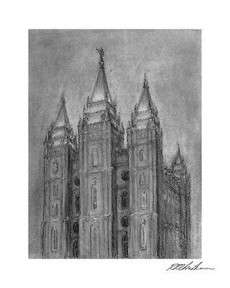 Salt Lake City Temple print