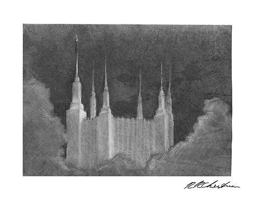 Washington DC Temple print