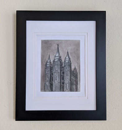 -original drawing- Salt Lake City Temple