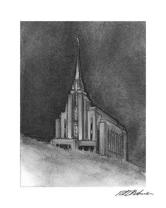 Rexburg Temple print