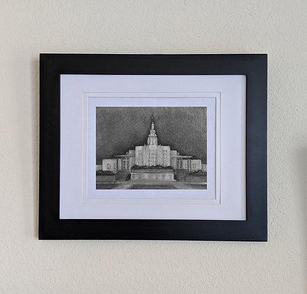-original drawing-Idaho Falls Temple