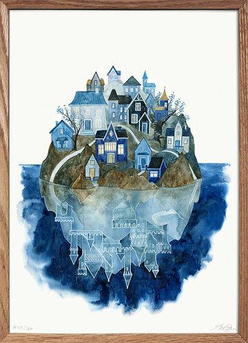 Blå by