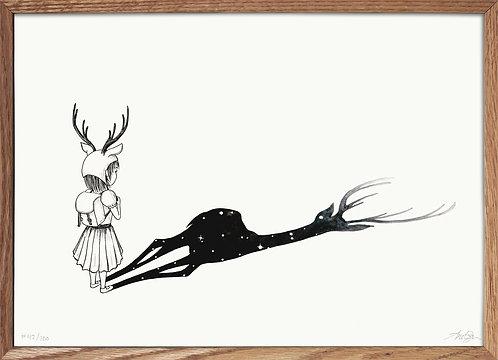 Pige med hjorteskygge