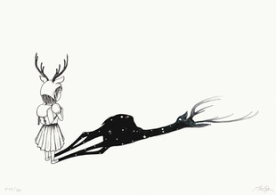 Pige med hjorteskygge / Deer girl