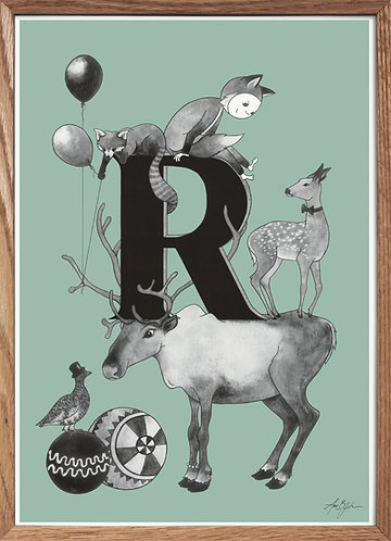 Bogstavplakat - R
