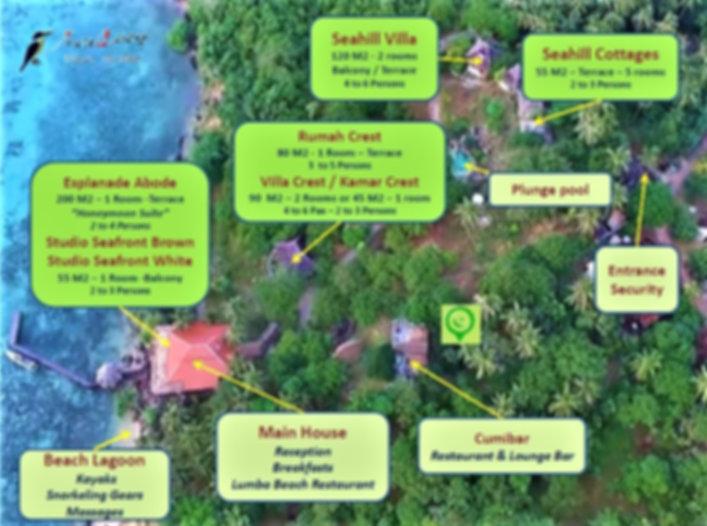 Breve Azurine Lagoon Resort Karimunjawa Map of the Resort