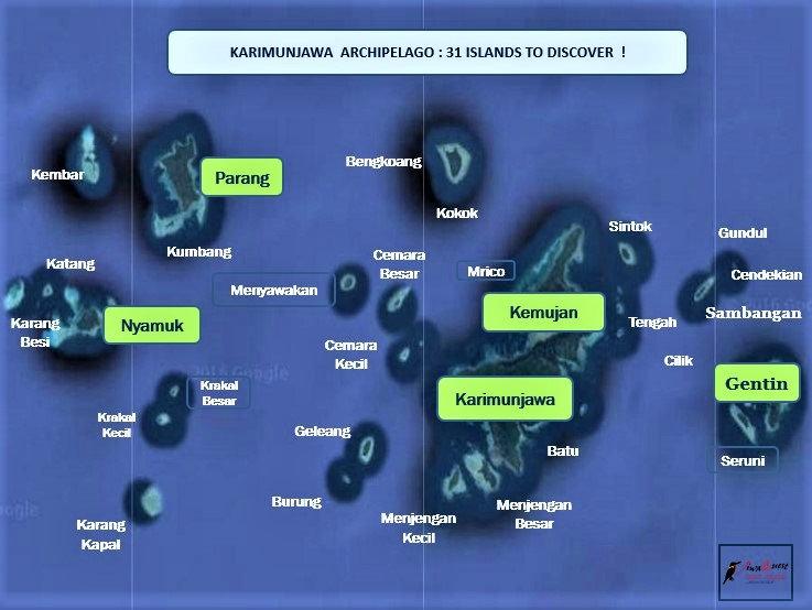 Breve Azurine Lagoon Resort Karimunjawa Map of Karimunjawa Archipelago (31 Islands)