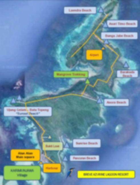 Places to see in Karimunjawa. Breve Azurine Lagoon Resort Karimunjawa