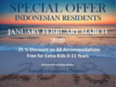 SPECIAL OFFER INDONESIAN LOW SEASON 2020