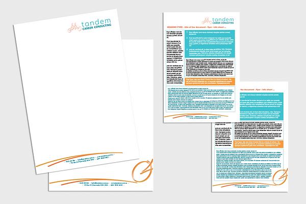 Letterhead Design, Logo Design, Career Consultant, Stationery, Graphic Design, Tandem Bicycle