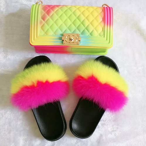 Furry Slides & Purses