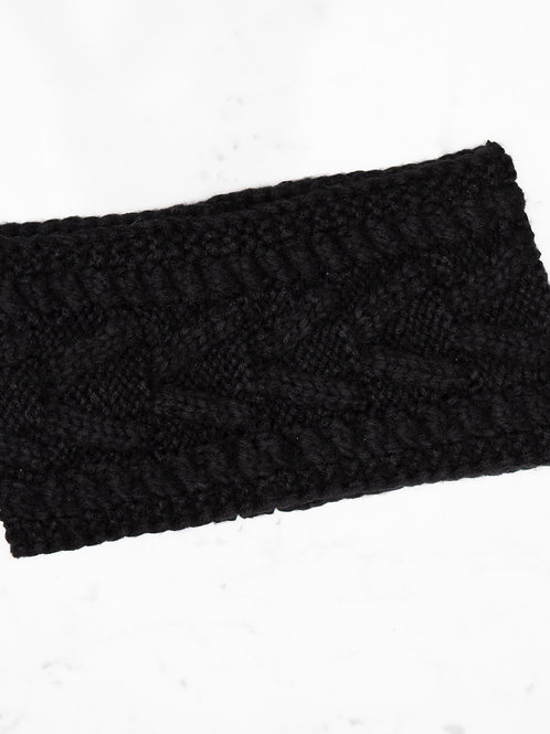 Wide Black Headband