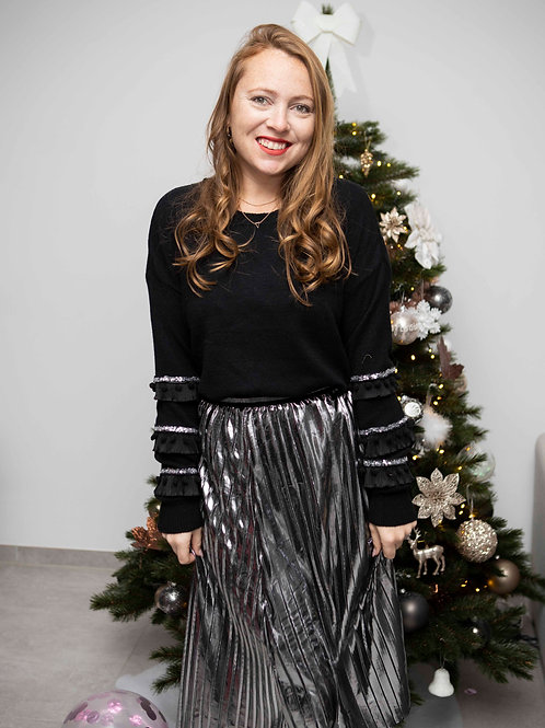 Silver Shiny Skirt