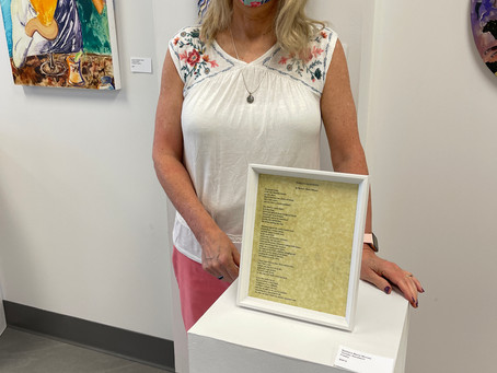 """BARBARA'S POEM """"TOMATO SANDWICH"""" IS ON DISPLAY AS PART OF THE MEMBERS SHOW AT AKRON SOUL TRAIN"""