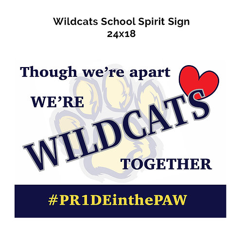 Wildcats Spirit Sign