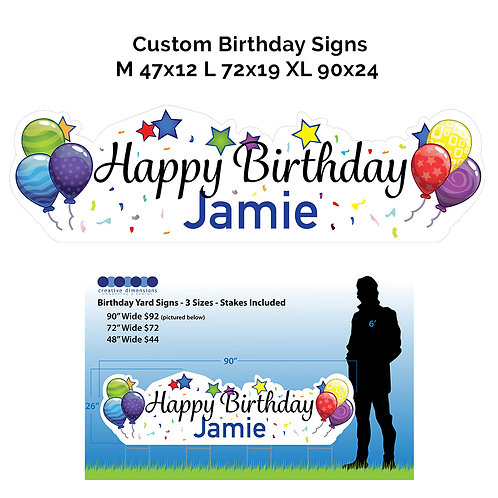X-Large Happy Birthday Sign