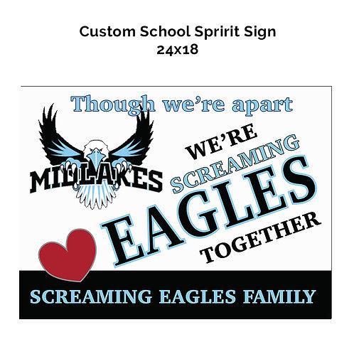 Screaming Eagles Spirit Sign