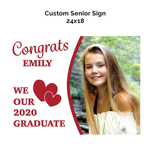 Custom Senior Photo Sign