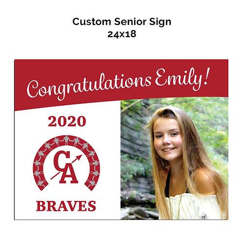 Custom Senior Photo Sign - Canandaigua