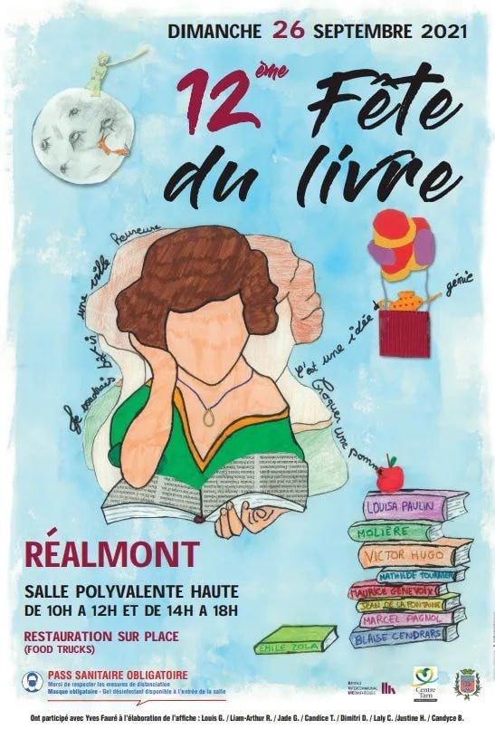 salon, foire, fête, livre, Réalmont, roman, auteur, écrivain