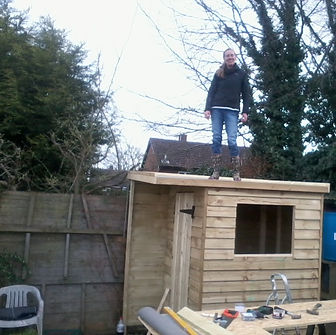 Garden structures - shed topping out party