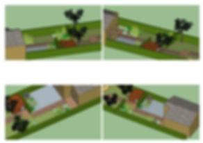 Garden design - 3D images