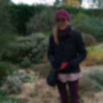 Photo of Heather McDougall at the Beth Chatto Gardens